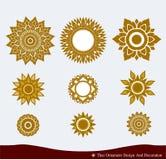 Thailändsk prydnaddesign Arkivbilder