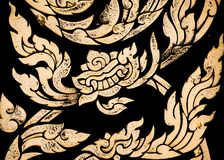Thailändsk randig textur fotografering för bildbyråer