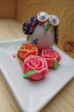 Thailändsk rosa aalawefterrätt Arkivbild