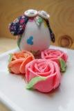Thailändsk rosa aalawefterrätt Royaltyfri Bild