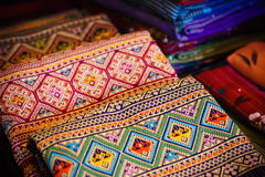 Thailändsk silk Arkivfoto