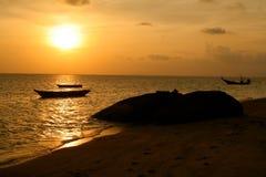 Thailändsk solnedgång Arkivbild