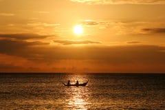Thailändsk solnedgång arkivbilder
