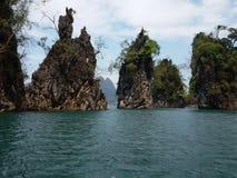 Thailändsk sounthern Ratchaprapa fördämning Fotografering för Bildbyråer