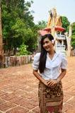 Thailändsk stående för kvinnor Royaltyfri Foto