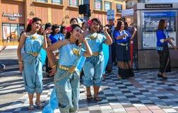 9-8-18 thailändsk staddagmarknad i Hollywood, Ca royaltyfria foton