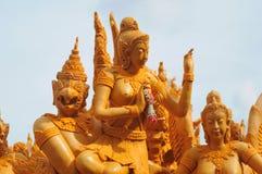 Thailändsk stearinljusfestival. på Thailand Fotografering för Bildbyråer