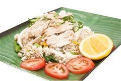 Thailändsk stekt rice. royaltyfri fotografi