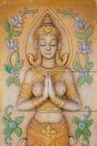 Thailändsk stilängel arkivbild