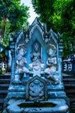 Thailändsk stilängelstaty i den Analyo Thipayaram templet royaltyfri fotografi