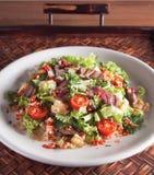 Thailändsk stil grillad beta Saland Arkivfoto
