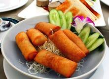 Thailändsk stil stekte vårrullar fotografering för bildbyråer