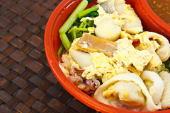 Thailändsk-stil sukiyaki Royaltyfri Bild