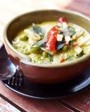 Thailändsk stilcurry med höna Arkivbilder