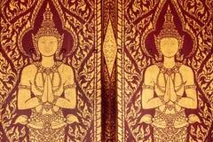 Thailändsk stildörr Fotografering för Bildbyråer