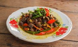 Thailändsk stiluppståndelse Fried Mushroom Royaltyfria Foton