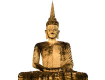 Thailändsk stor gammal Buddhastaty Fotografering för Bildbyråer