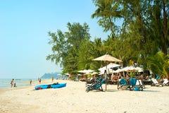 Thailändsk strand Arkivbilder
