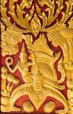 Thailändsk stye som snider textur Arkivfoton