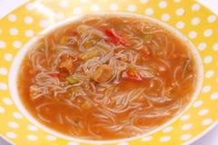 Thailändsk suppe Arkivfoto
