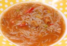 Thailändsk suppe Royaltyfri Foto