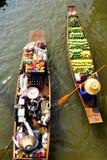 Thailändsk sväva marknad Fotografering för Bildbyråer