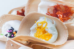 Thailändsk Sweetmeat Kanom Buang Royaltyfri Bild