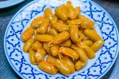 Thailändsk sweetmeat som gjorde från ägget Royaltyfri Foto