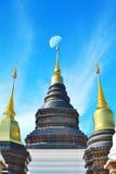 Thailändsk tamplearkitektur Fotografering för Bildbyråer