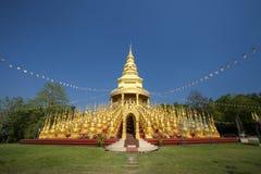 Thailändsk tempel för guld- pagod 500, Saraburi, Thailand Arkivfoto