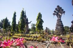 Thailändsk tempel i hinduisk stil, Nhongkhai landskap Thailand arkivbilder