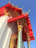 Thailändsk tempel, TRAT, Thailand Royaltyfria Foton