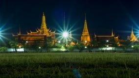 Thailändsk tempel WatPhrakaew Arkivfoto