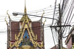 Thailändsk tempelkonst och arkitektur Även om det finns många skillnader i orientering och stil, alla klibbar de till de samma pr royaltyfri fotografi
