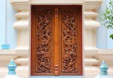 Thailändsk trähantverkpanel Royaltyfri Bild