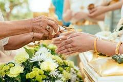 Thailändsk traditionell bröllopceremoni Royaltyfri Foto