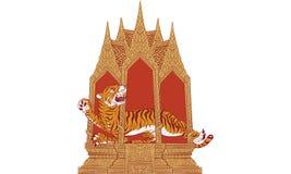 Thailändsk traditionell målning, tatuering Fotografering för Bildbyråer