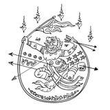 Thailändsk traditionell målning, tatuering Arkivfoton