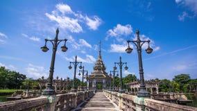 Thailändsk traditionspaviljong stock video