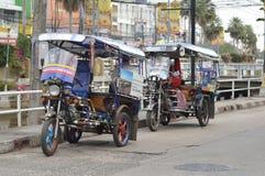 Thailändsk tuktukbil Arkivbilder