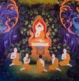 Thailändsk väggmålning Arkivbild