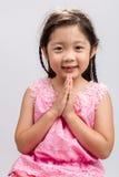Thailändsk välkommen hälsa Sawasdee bakgrund/thailändska välkomna hälsa Sawasdee Royaltyfria Bilder