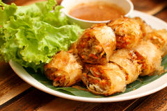 Thailändsk vårrulle Royaltyfri Bild