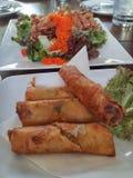 Thailändsk vårrulle Arkivfoto