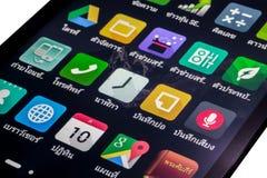Thailändska applikationsymboler Arkivbild