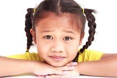 Thailändska barn som isoleras på vit bakgrund Royaltyfria Bilder