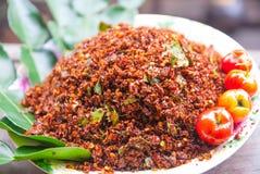 Thailändska Chili Salt Royaltyfria Foton