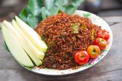 Thailändska Chili Salt Arkivbild