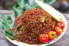 Thailändska Chili Salt Arkivbilder