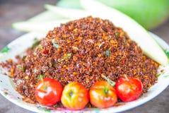 Thailändska Chili Salt Royaltyfri Foto